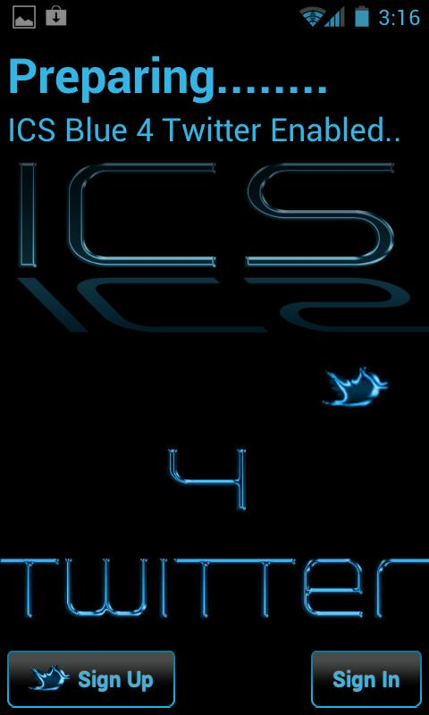 ICS Blue 4 Twitter - screenshot