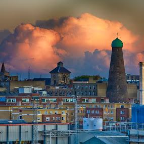 Dublin by Zetsu Nawa - City,  Street & Park  Neighborhoods ( clouds, ireland, sunset, dublin, night,  )
