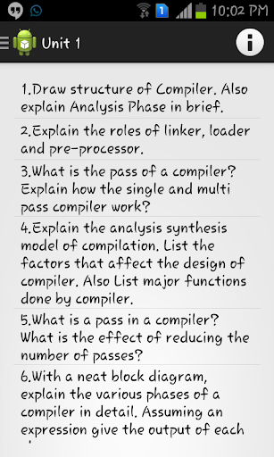 Compiler Design Assignments