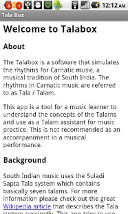 Carnatic Music Tala Box - screenshot thumbnail