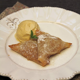 Crispy Samosas with Mirabelle Plums.