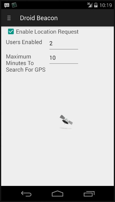 Droid Beacon - screenshot