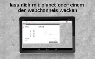 Screenshot of planet radio