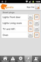 Screenshot of Egardia Alarm System App