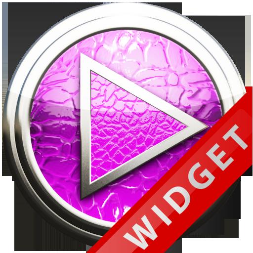 Poweramp Widget Pink Leather