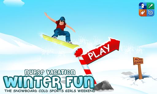Nurse Vacation Winter Fun +