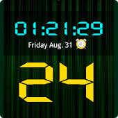 LED Digital Clock Widget HD