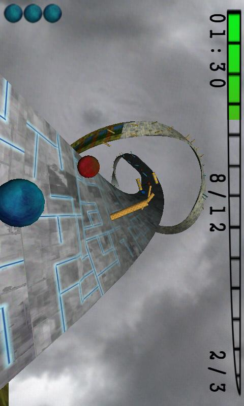 Skyball Lite (3D Racing game)- screenshot