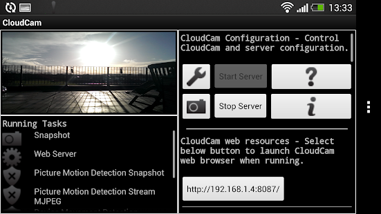 Cloud Spy Cam Demo - screenshot thumbnail