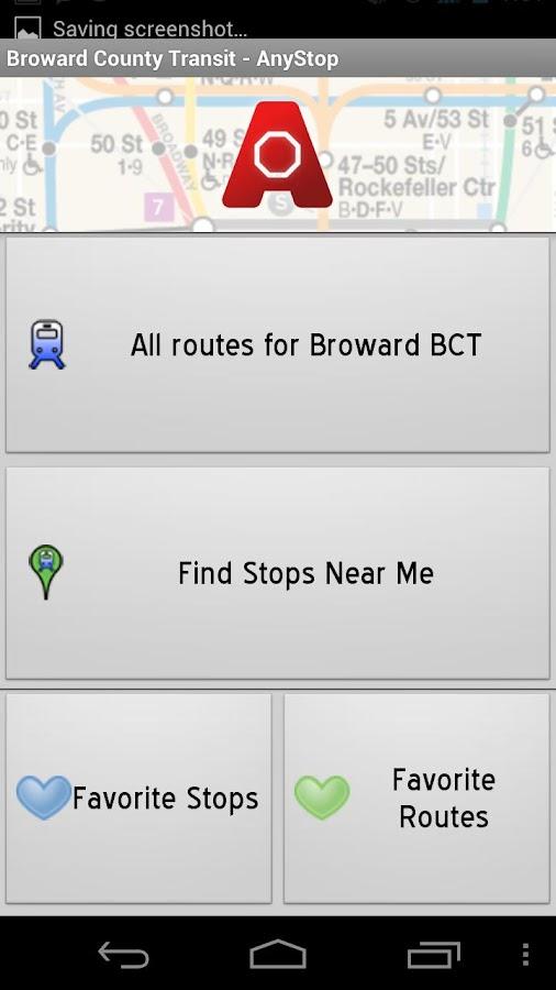 Broward County Transit AnyStop - screenshot