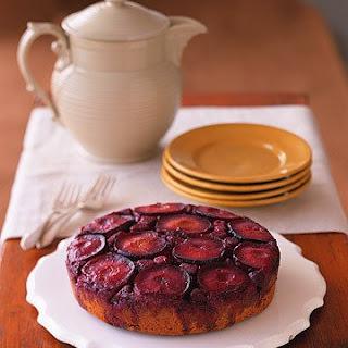 Plum and Raspberry Upside-Down Cake