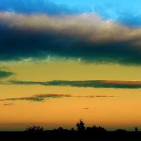 When the Soul is calm by Nat Bolfan-Stosic - Landscapes Sunsets & Sunrises ( clouds, calm, sky, sunset, soul )