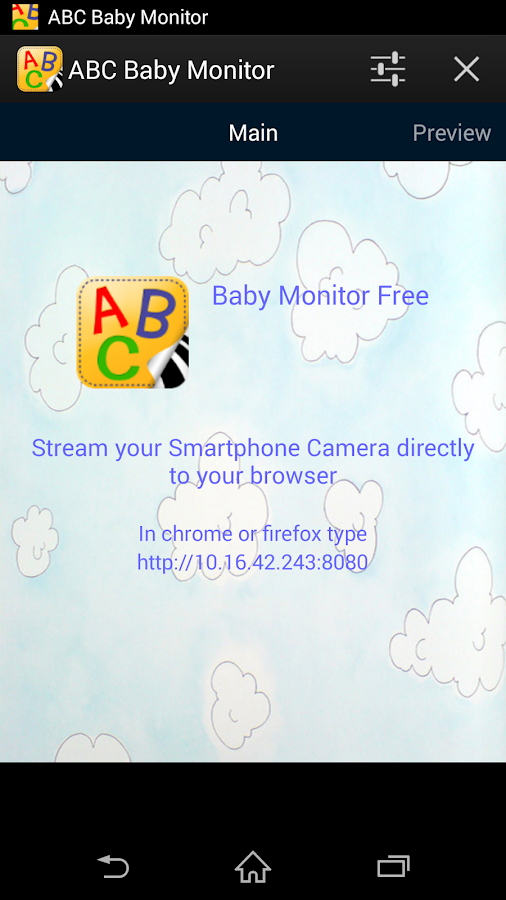 abc baby monitor android apps on google play. Black Bedroom Furniture Sets. Home Design Ideas