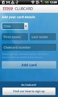 Screenshot of Tesco Clubcard