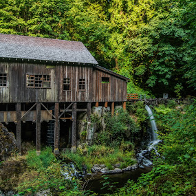 Grist Mill by James Case - Buildings & Architecture Public & Historical ( landmark, cabin, mill, building, old building, historic,  )