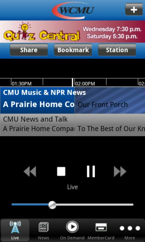 WCMU Public Radio App - screenshot