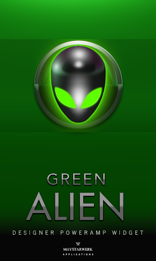 Poweramp Widget Green Alien