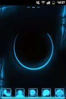 Screenshot of GO Launcher Themes Neon Blue