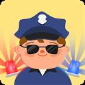 Kids police car icon