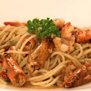 Prawn and Chilli Pasta.