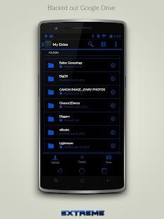 JB Extreme Theme Blue CM11 - screenshot thumbnail