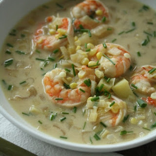 Shrimp and Corn Chowder with Chives