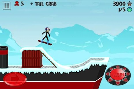 Stickman Snowboarder- screenshot thumbnail