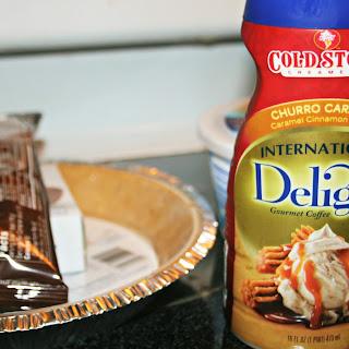Five Ingredient Chocolate Churro Caramel Frozen Pie
