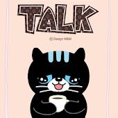 깜장고양이 까미_ 핑크카톡테마 (무료)