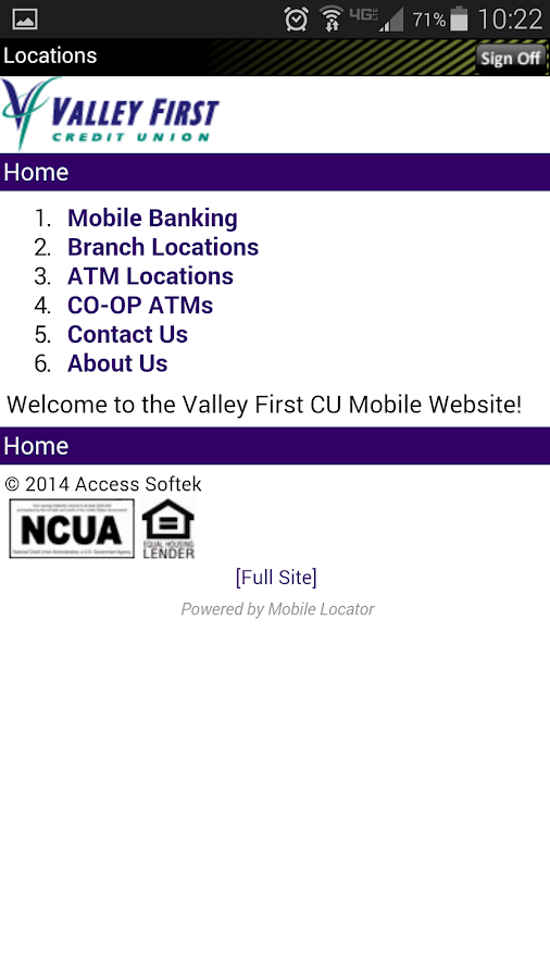 Valley First Credit Union- screenshot