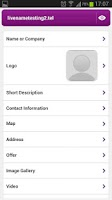 Screenshot of Telnames Mobile Site Builder