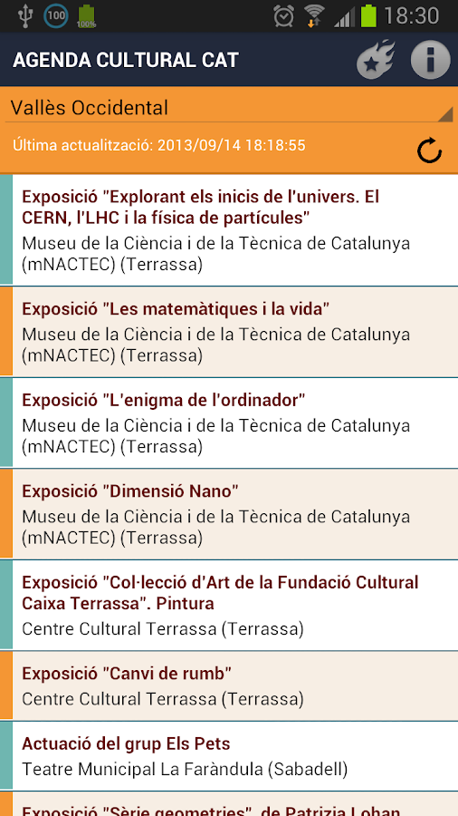 Agenda Cultural CAT- screenshot