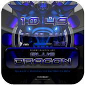 BLUE DRAGON digi clock