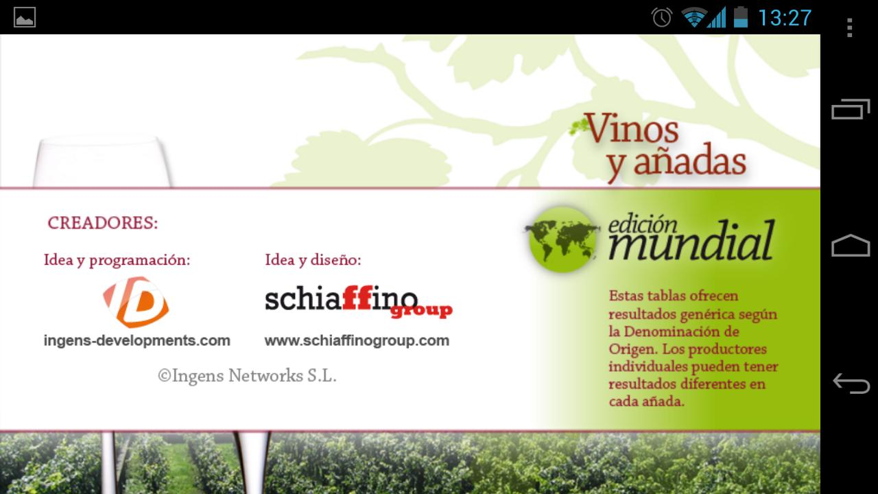 Wines and Vintages World Ed.- screenshot