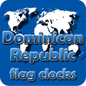 Dominican Republic flag clocks icon