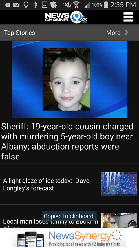 NewsChannel 9 WSYR Syracuse- screenshot
