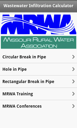 Wastewater Infiltration Calc
