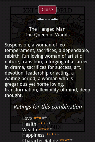 Tarot Card Combinations- screenshot