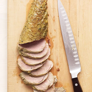 Pork Tenderloin and Mustard-Wine Sauce.