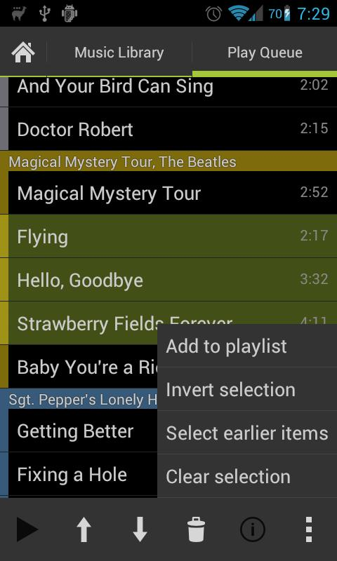 Lucid Music Player - screenshot