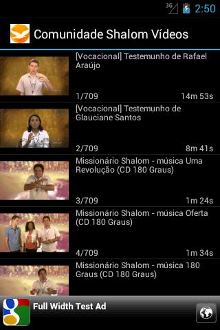 Comunidade Shalom - Vídeos