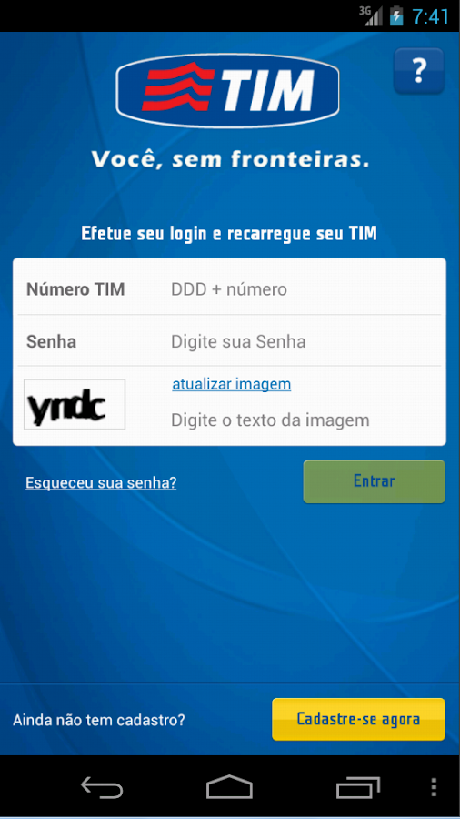 Recarga TIM - screenshot