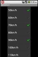 Screenshot of Speed Alert Demo