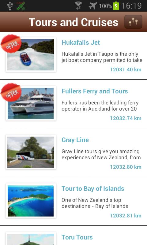 itravelNZ - travel guide - screenshot