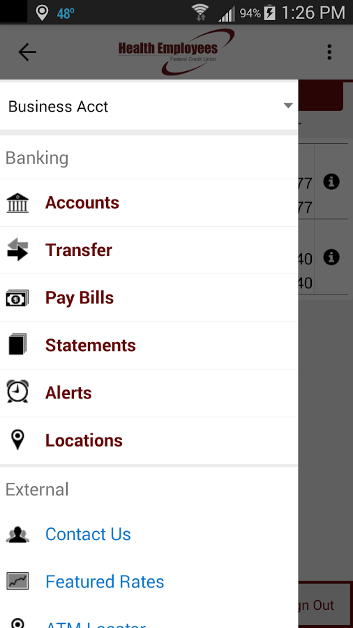 Health Employees FCU Mobile- screenshot