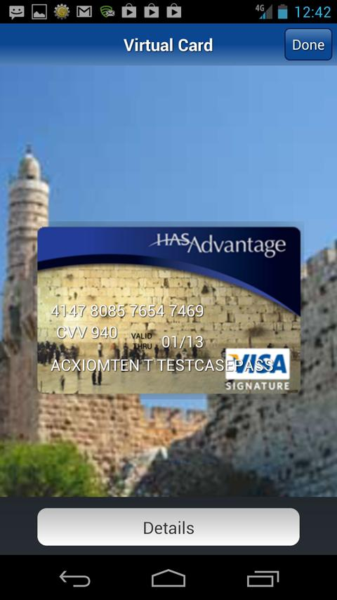 HAS Advantage Visa - screenshot