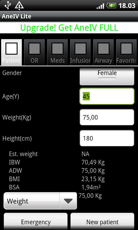 AneIV Lite - Anesthesia Aid - screenshot