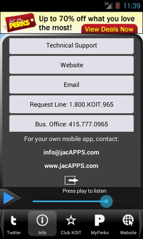96.5 KOIT - screenshot