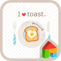 i love toast dodol theme icon