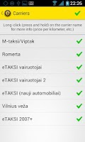 Screenshot of eTAKSI - get taxi in Lithuania